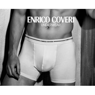 Enrico Coveri Boxer Uomo elastico esterna in cotone e modal elasticizzato ART.EB 1000 Bianco e Nero