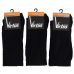 Virtus calze uomo lunghe basic socks caldo cotone Tinta unica Nere ART.V33 NERO ( 3 Paia )