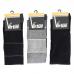 Virtus calze uomo lunghe linea basic socks caldo cotone fantasia a Righe nero ART.V32 RIGHE NERO ( 3 Paia )
