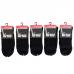 Virtus calze donna corte linea basic socks caldo cotone tinta unica Nere ART.V1200 ( 5 Paia )