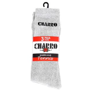"""""""El Charrò""""Calzino corto di Spugna da tennis a meta polpaccio ART.SLAM ( 3 Paia )"""