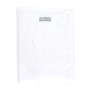 Mansuè Maglietta Uomo in cotone manica corta scollo V ART.40040 Bianco