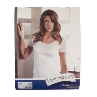 Nottingham T-shirt  Donna Manica Corta in Caldo Cotone  Felpato ART.SOGNO.B-N ( BIANCO-NERO )