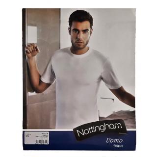Nottingham T-shirt Uomo Manica Media a Girocollo in Caldo Cotone  Felpato ART.ROCK.B ( BIANCO )