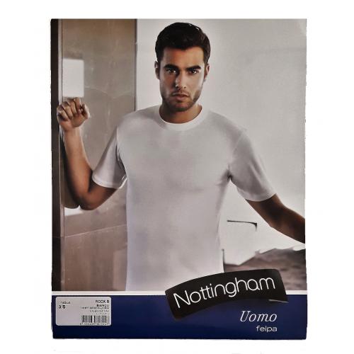 Shirt A In Nottingham Media T Manica Cotone Uomo Caldo Girocollo aTASx