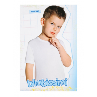Bimbissimi T-Shirt Girocollo Manica Media Bimbo in cotone ART.TM61R