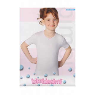 Bimbissimi T-Shirt Girocollo Manica Media Bimba in cotone ART.TM61B