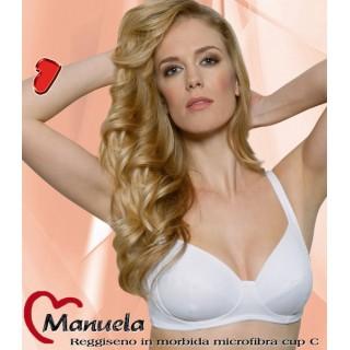 Aris Reggiseno Manuela modello classico senza ferretto non imbottito Bianco-Nero