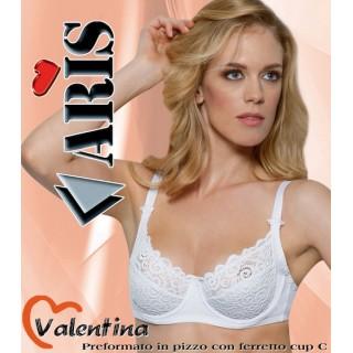 Aris Reggiseno Valentina modello classico con ferretto senza imbottitura Bianco-Nero