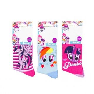 Calzini da bambina My little Pony in cotone spugnoso RH0723 (3 PEZZI)