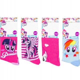 Calzini da bambina My little Pony in cotone spugnoso RH0723 (4 PEZZI)