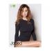 Jadea Maglia donna maniche lunghe girocollo in cotton soft elasticizzato ART.4100