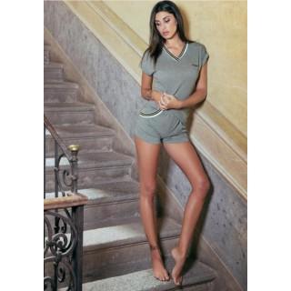 407683e7d9 Pigiama Jadea home estivo corto donna in cotone modal ART.3065 GRIGIO -  GRIGIO/