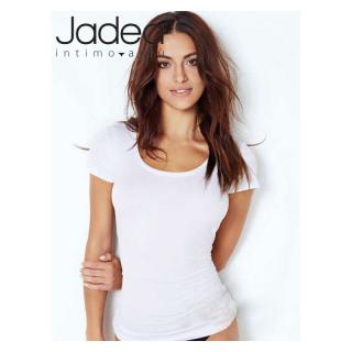 Jadea Maglia donna maniche corte scollo lollo in cotone elasticizzato ART.4181
