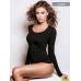Jadea Maglia donna maniche lunghe scollo lollo in cotone elasticizzato ART.4056