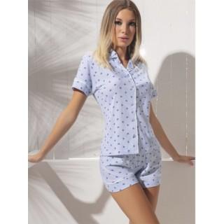 Love and Bra Pigiama Camicetta con Pantaloncino estivo per donna in cotone jersey ART.33499