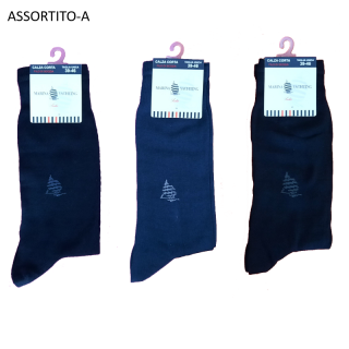 Marina Yachting calze uomo corte cotone filo di scozia Tinta unica Assortite ART.MF30211 ( 3 Paia )