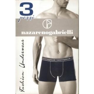 Nazareno gabrielli Boxer uomo con elastico esterna in morbido cotone elasticizzato tinta unita ART.NB901/3 ( 3 PEZZI )