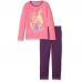 Pigiama Bambina Disney Principesse 3-6 maniche lunghe in cotone estivo ART.HQ2159 FUXIA