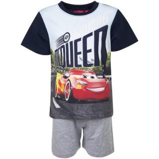 Pigiama corto Bambino Disney Cars 3-8 in cotone estivo ART.HQ2059-1 BLU