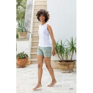 Pigiama donna corto Jadea Home canotta pantaloncino art. 3104 bianco