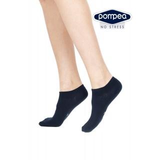Pompea fantasmino minicalza Donna in cotone elasticizzato (Tripack) BIANCO-NERO-GRIGIO-BLU