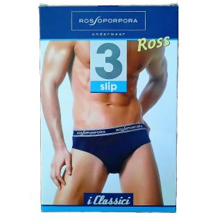 Slip uomo Rossoporpora in cotone elasticizzato ART.ROSS (3 PEZZI)